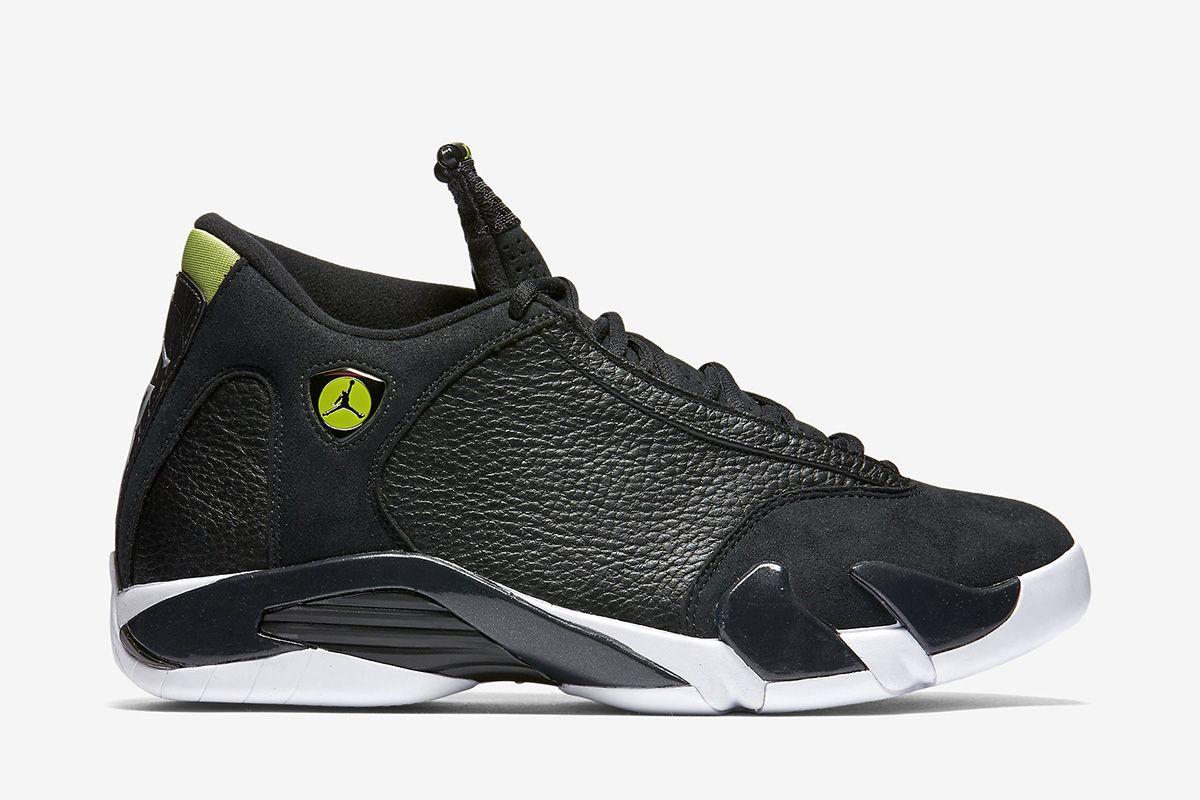 best cheap 4652e fc3f9 Air Jordan 14 Retro Men s Shoe  Black White Vivid Green Black
