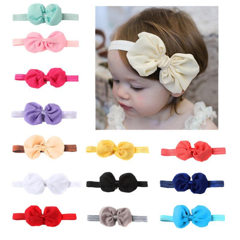 1PC Newborn Baby Girl Headband Infant Toddler Bow Hairband Girls Accessories New