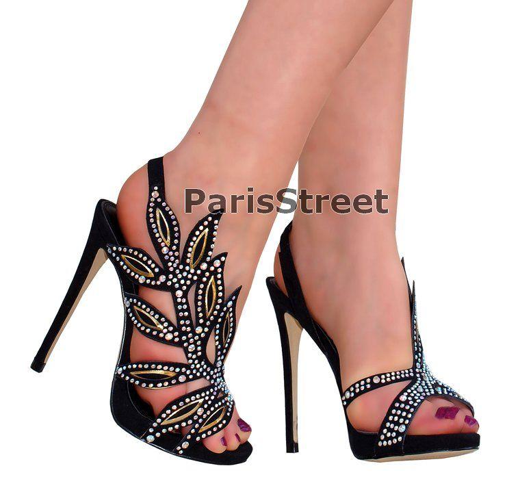 Azurowe Buty Cyrkonie Zamsz Zlote Czarne 35 40 5444796810 Oficjalne Archiwum Allegro Stiletto Heels Heels Stiletto