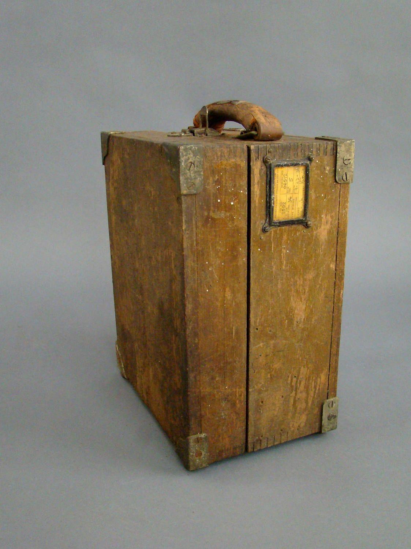 wood box; wooden box; equipment case; scientific equipment