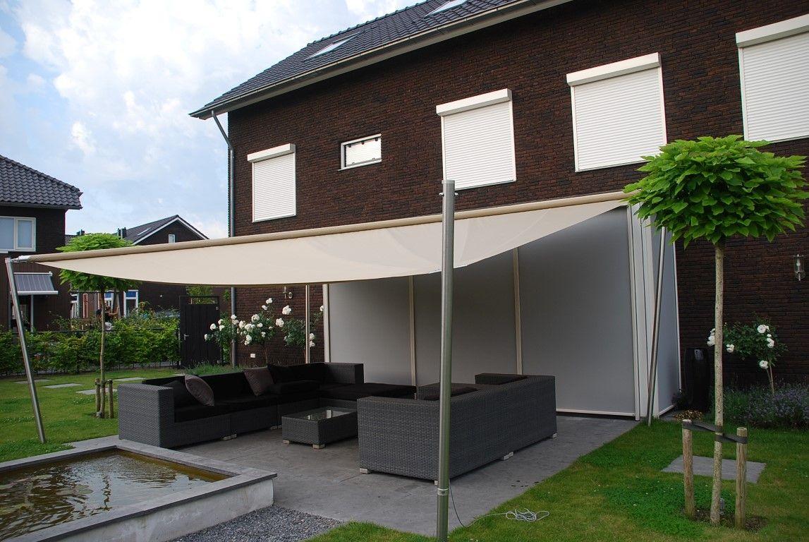 Afbeeldingsresultaat voor overkapping tuin doek