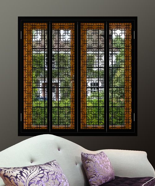 Security shutter in moroccan design for modern homes and interiors design textiles and for Interior window security shutters