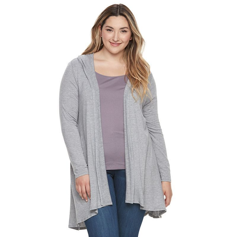 b3c41ee551a Plus Size French Laundry Hooded Flyaway Cardigan