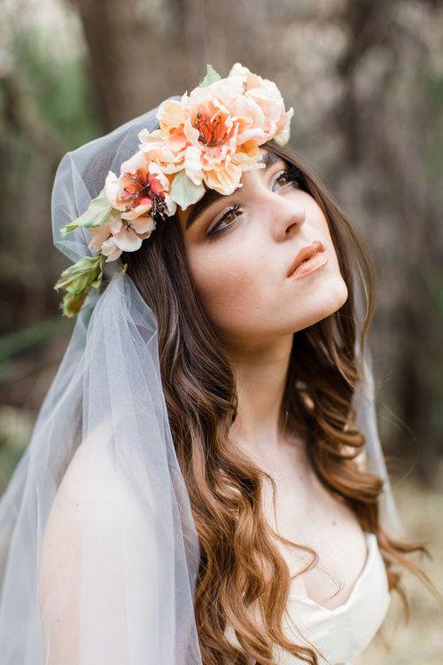 Silk Spring Flower Crowns From Mignonne Handmade Chic Vintage Brides Flower Crown Veil Wedding Crown Flower Crown
