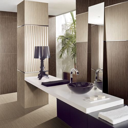 Medium Light Wood Effect Porcelain Wall And Floor Tiles From The