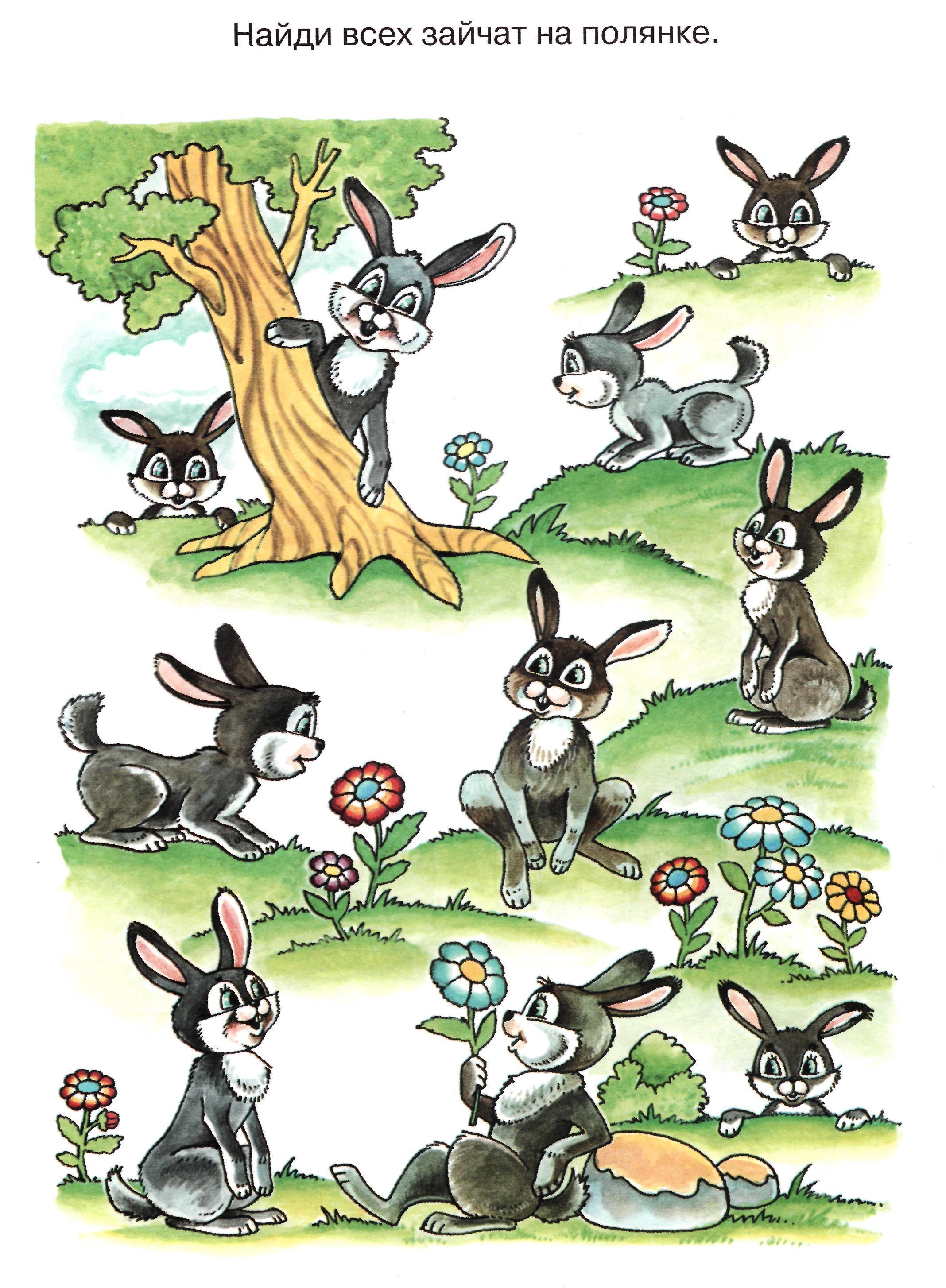 Картинка найдите зайчика
