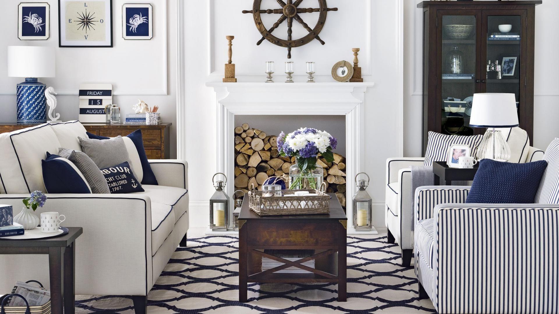 Traditional Nautical Living Room | DIY | Pinterest | Traditional ...