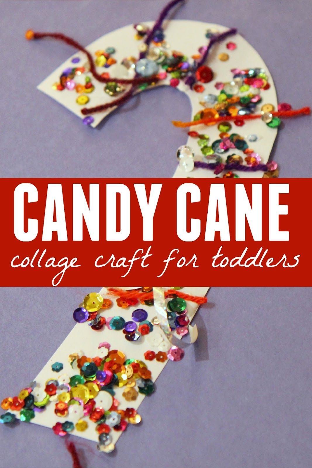 Candy Cane Collage Craft For Toddlers