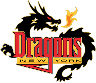 Arena Football League_New York Dragons. Old Logo.   Logos, Sports team logos, Sports logo