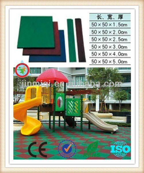 Floor mat,playground rubber flooring, outdoor rubber mat JMQ-P192A $15~$20
