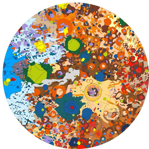 Geologic map of the moon based on data collected from the Lunar