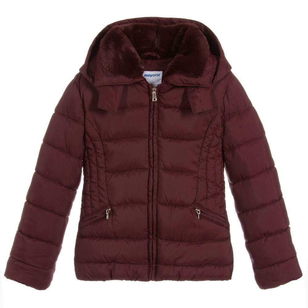 634d34f96528 Girls Burgundy Padded Jacket