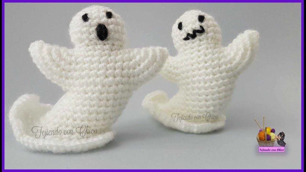 Tutorial amigurumi - Fantasma | videos | Halloween crochet, Crochet ...