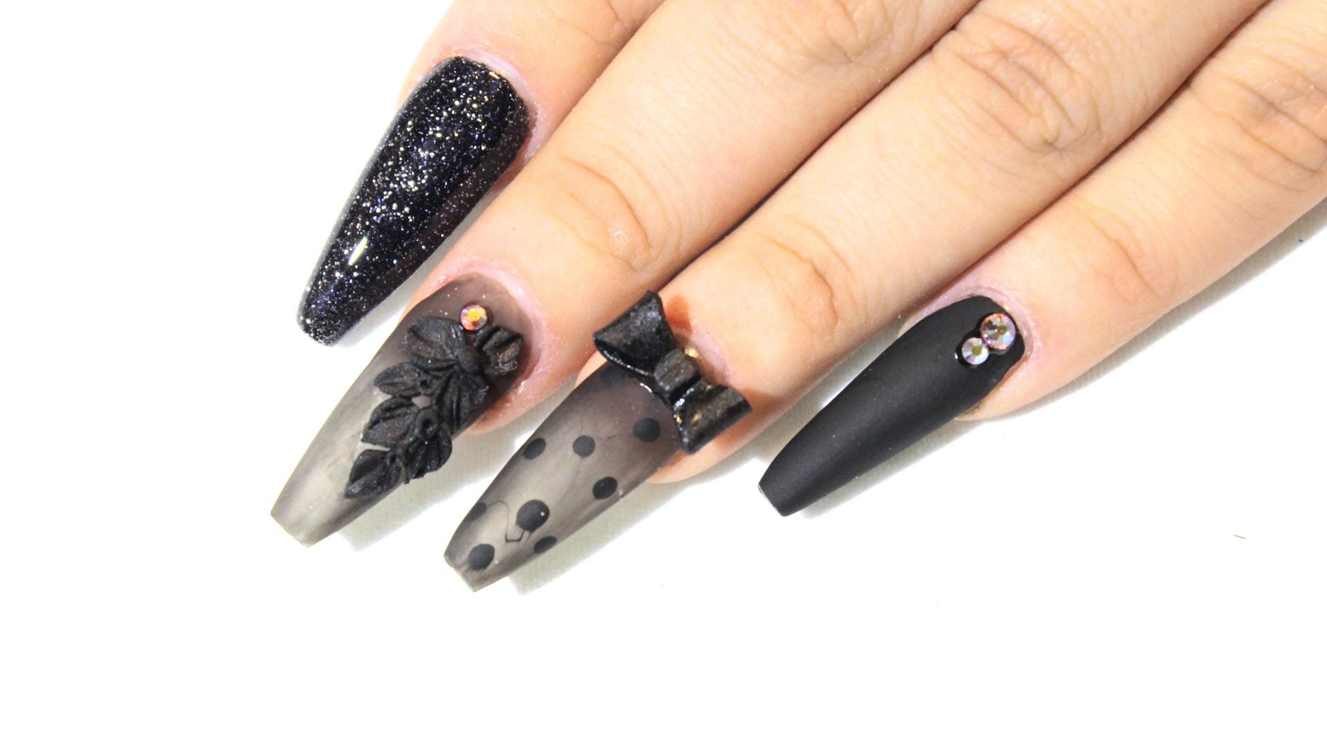 HOW TO: Black Sheer Nails ♥ (thanks again Nova. you\'re always ...