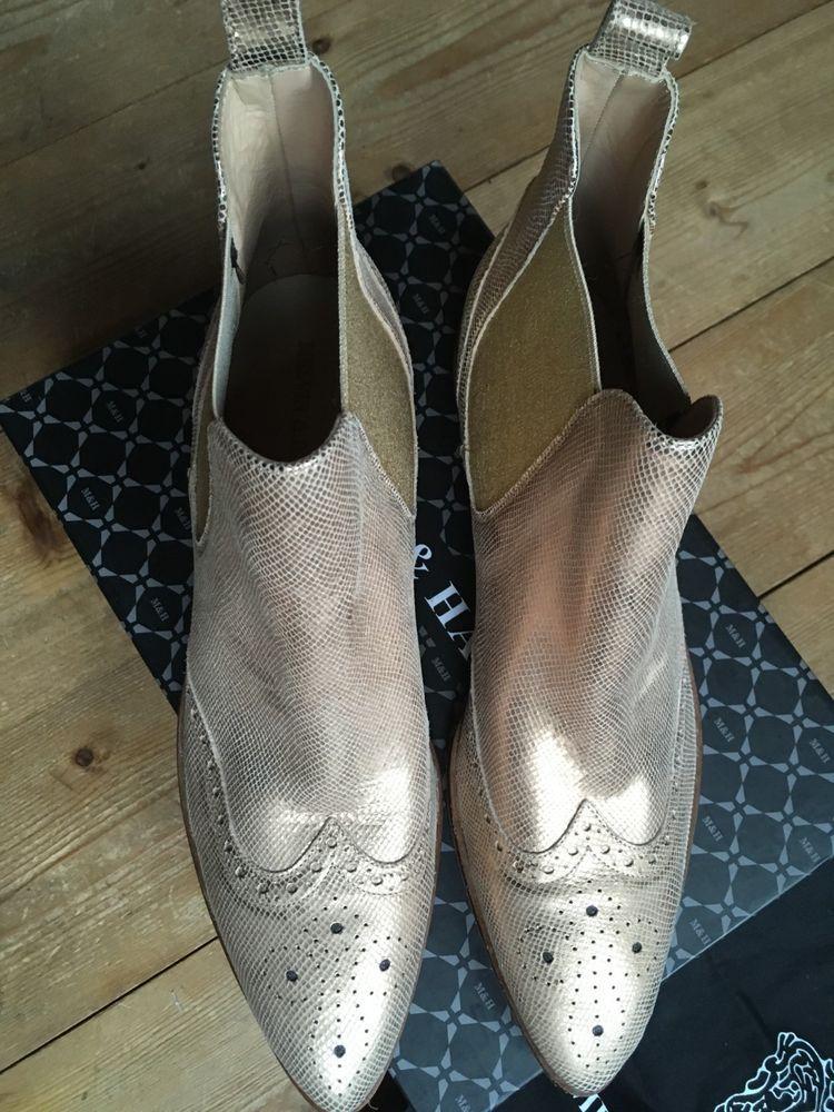 official photos 085c5 528cd Chelsea Boots Budapester Borgues Melvin & Hamilton metallic ...
