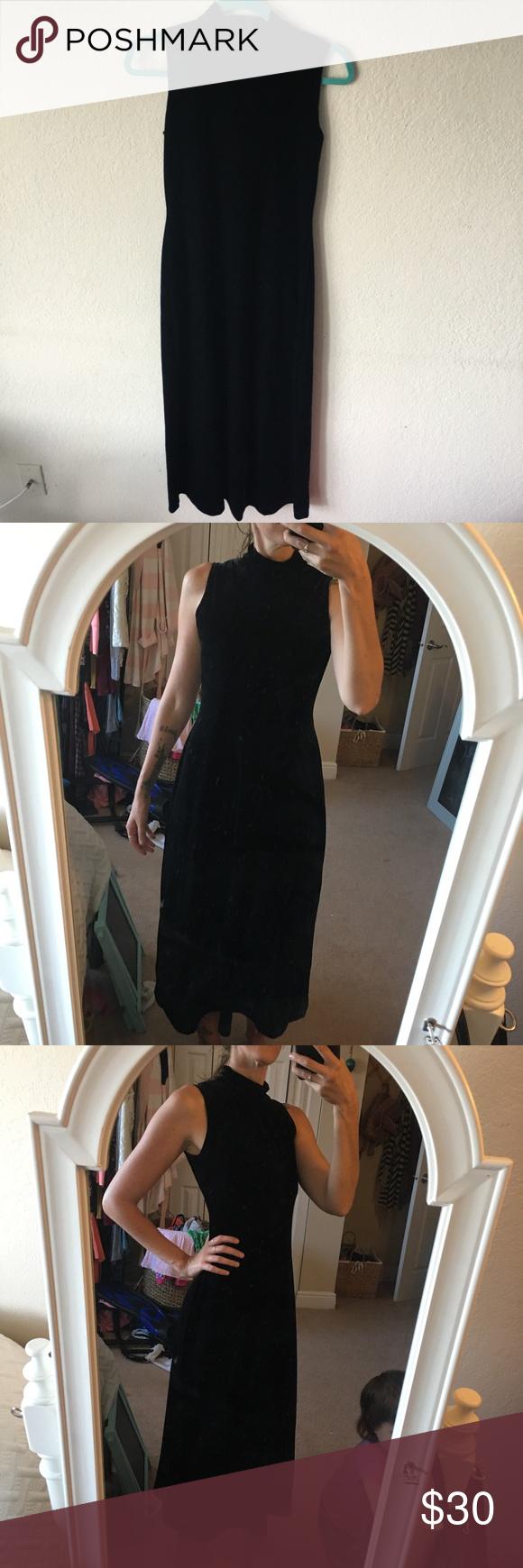 Velvet dress my posh picks pinterest long black black velvet