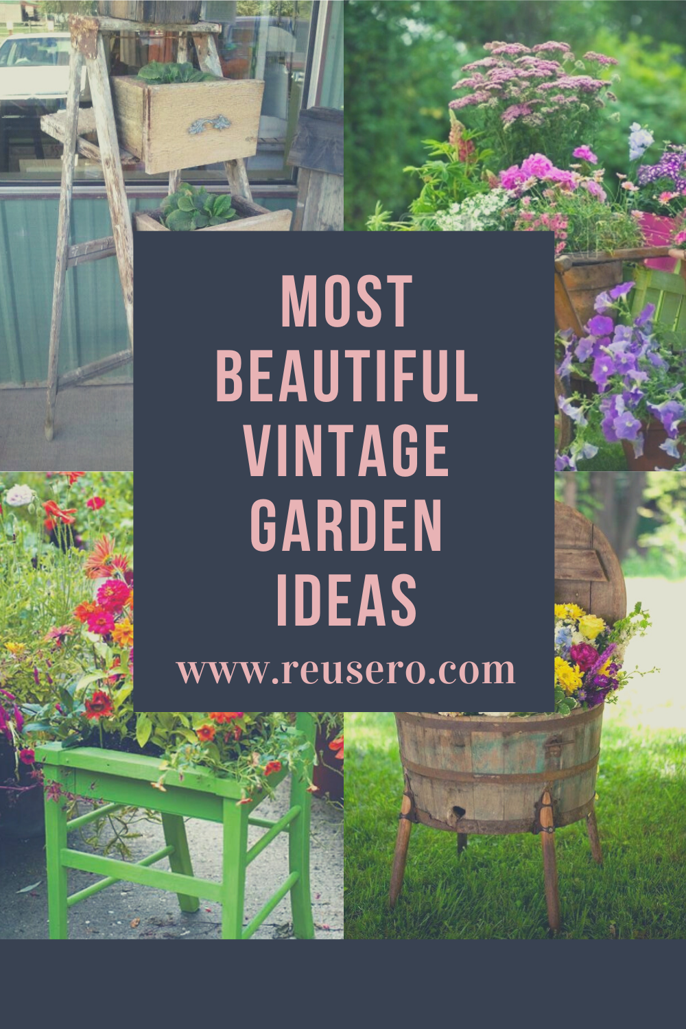 Upcycle Projects And Ideas For Garden Diy Upcycled Household Items And Junk Into Furniture Decor Diy Garden Projects Vintage Garden Japanese Garden Tools
