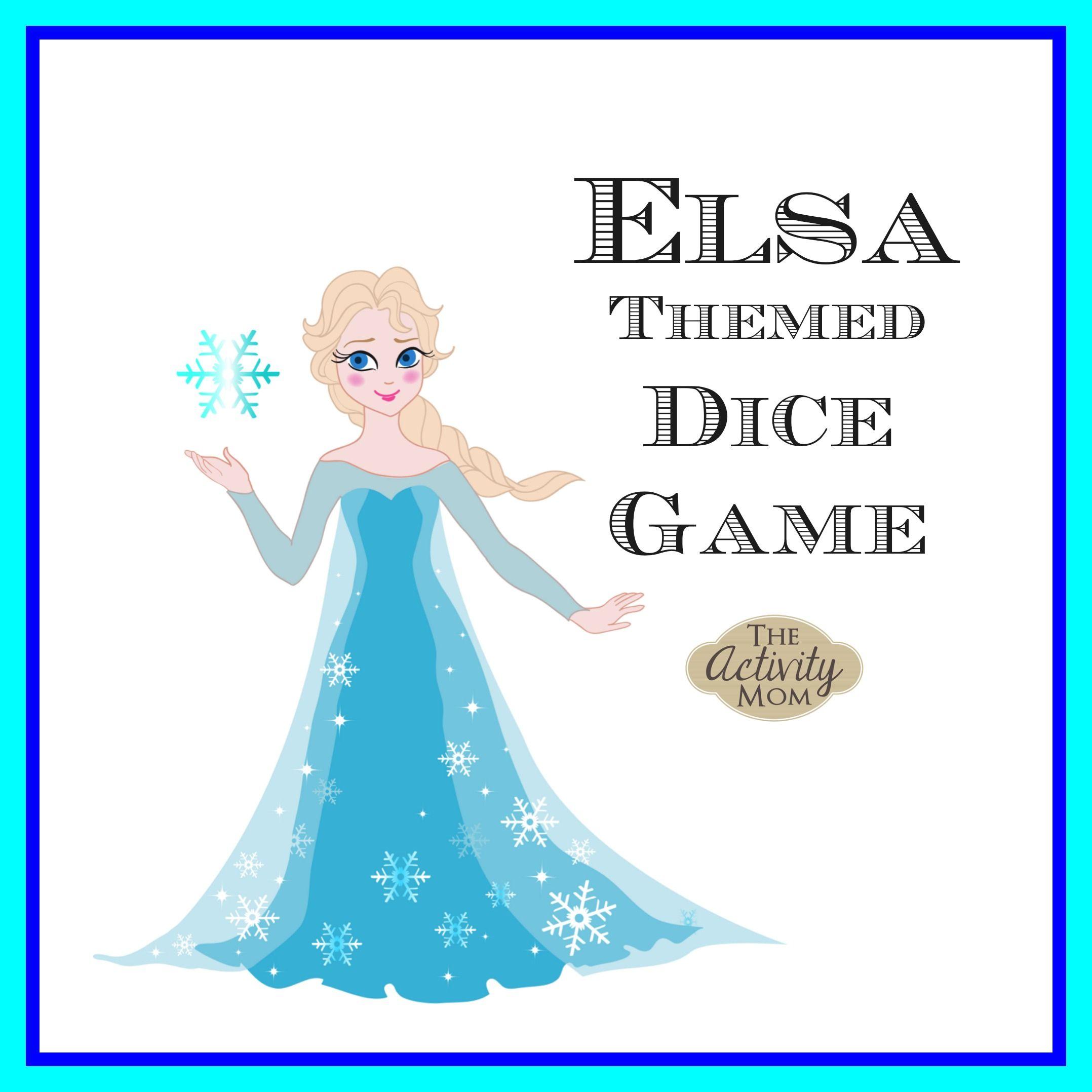 Elsa Dice Game Frozen activities, Printable activities