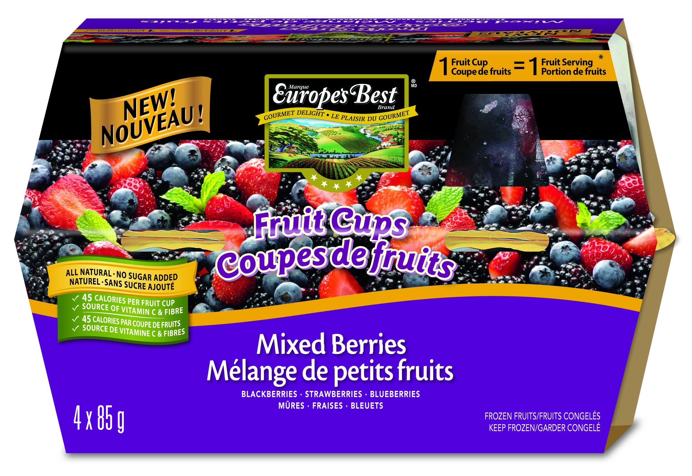 HAIN CELESTIAL CANADA / Europe's Best® Fruit Cups Fruit