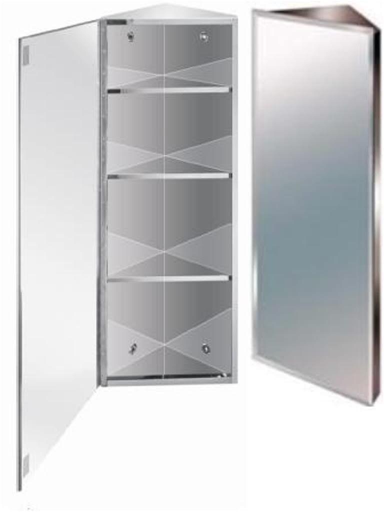 tall corner bathroom cabinet glass shelves corner bathroom from ...