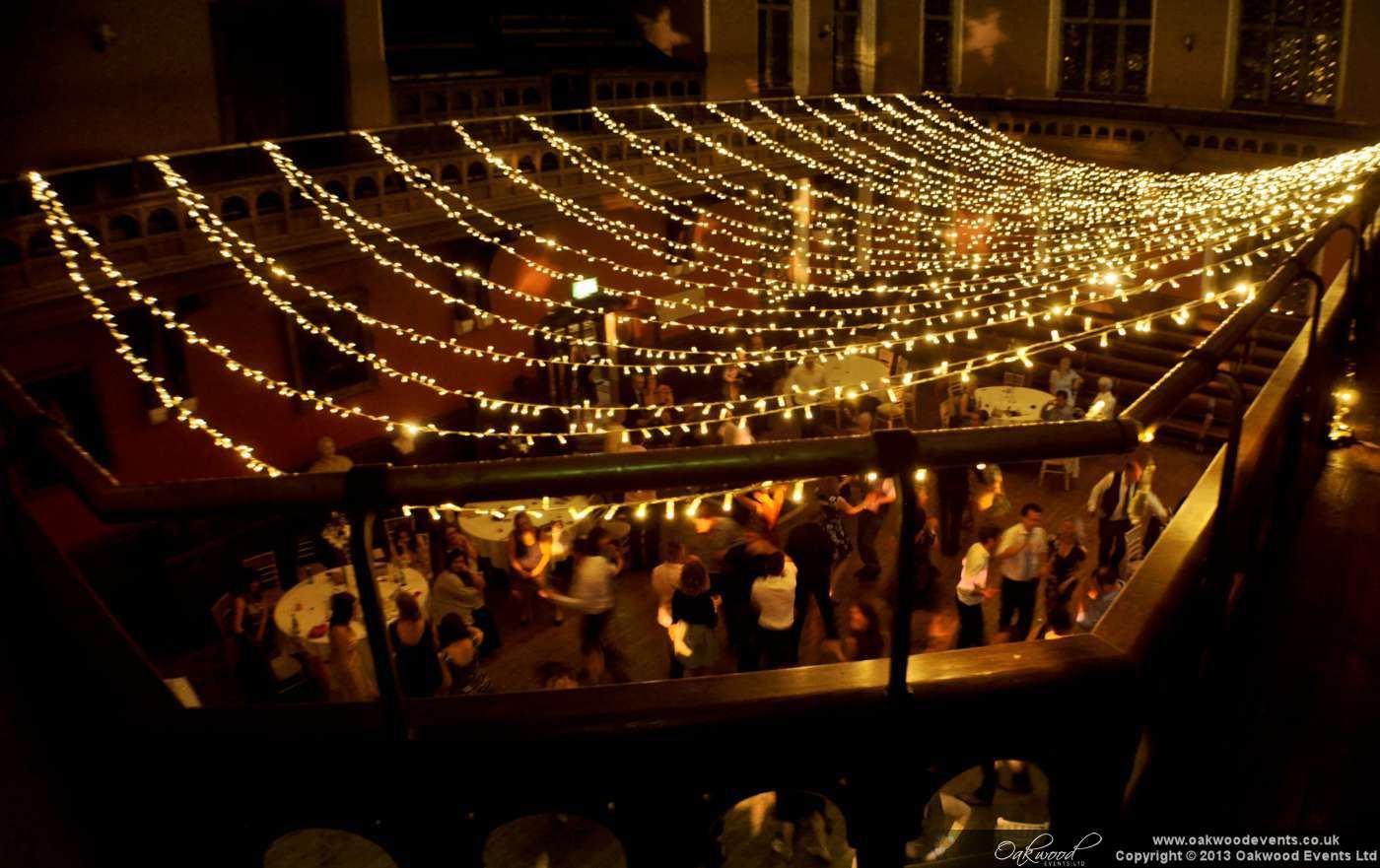 Fairy Light Canopy For An Outdoor Summer Evening Event