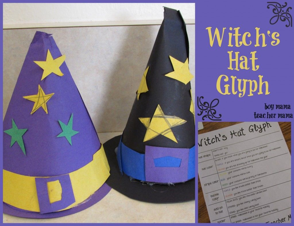 Teacher Mama Witch Hat Glyph After School Linky