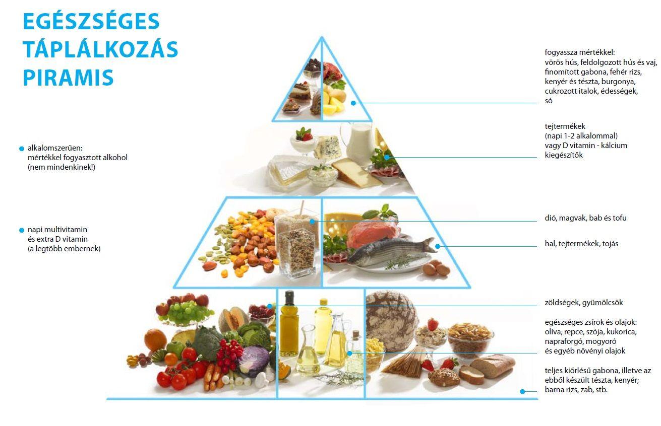 fogyás táplálkozási piramis okos étrend minta