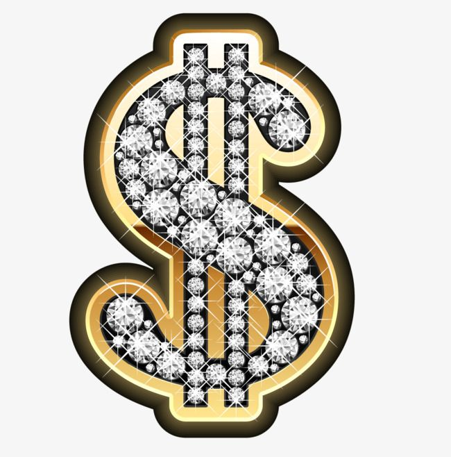 Gold Diamond Dollar Logo Gold Diamond The Dollar Png Transparent Clipart Image And Psd File For Free Download Gold Diamond Earrings Silver Ring Designs Bling