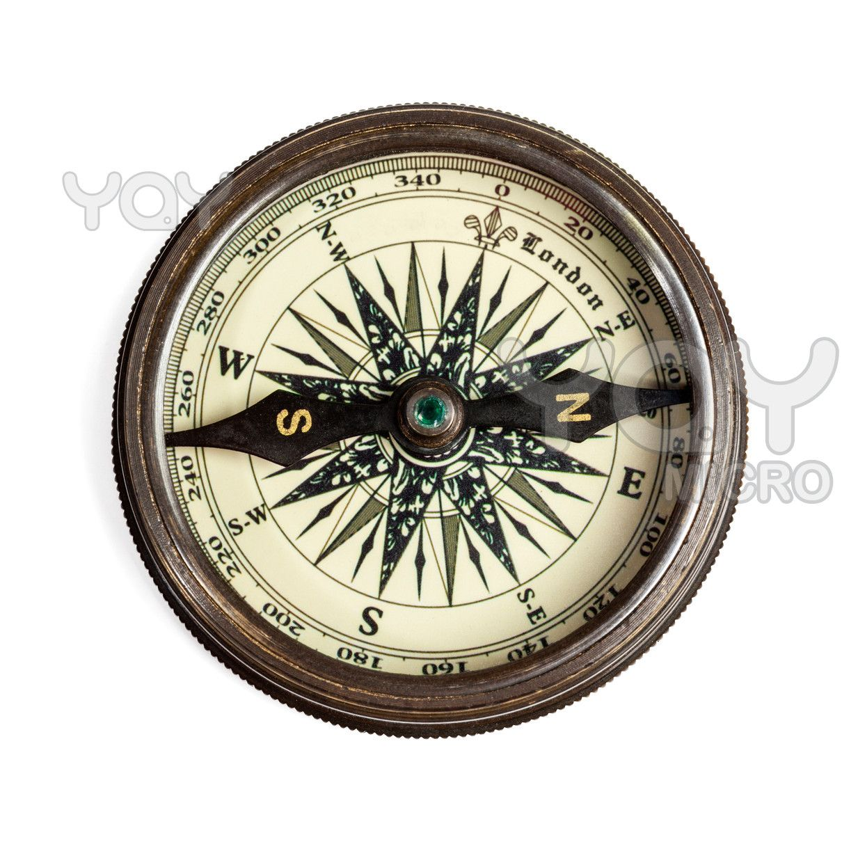 vintage compass finding direction