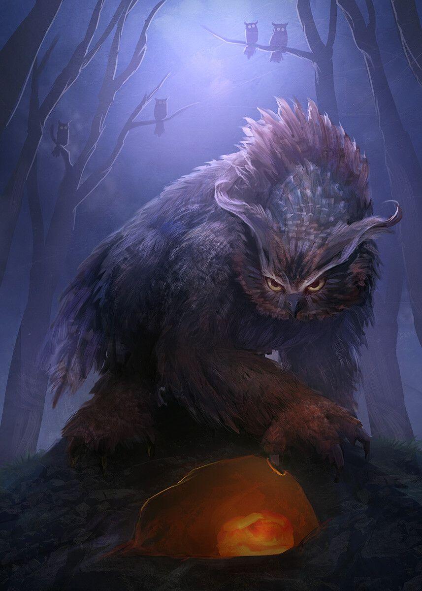 ArtStation - Owlbear, Matt Forsyth | Monster artwork ... - photo#9