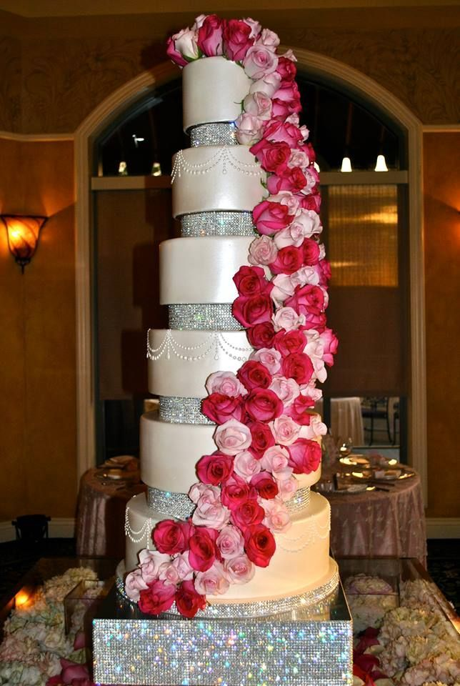 Our Gorgeous 6 tier STUNNER of a wedding cake set up at The ...