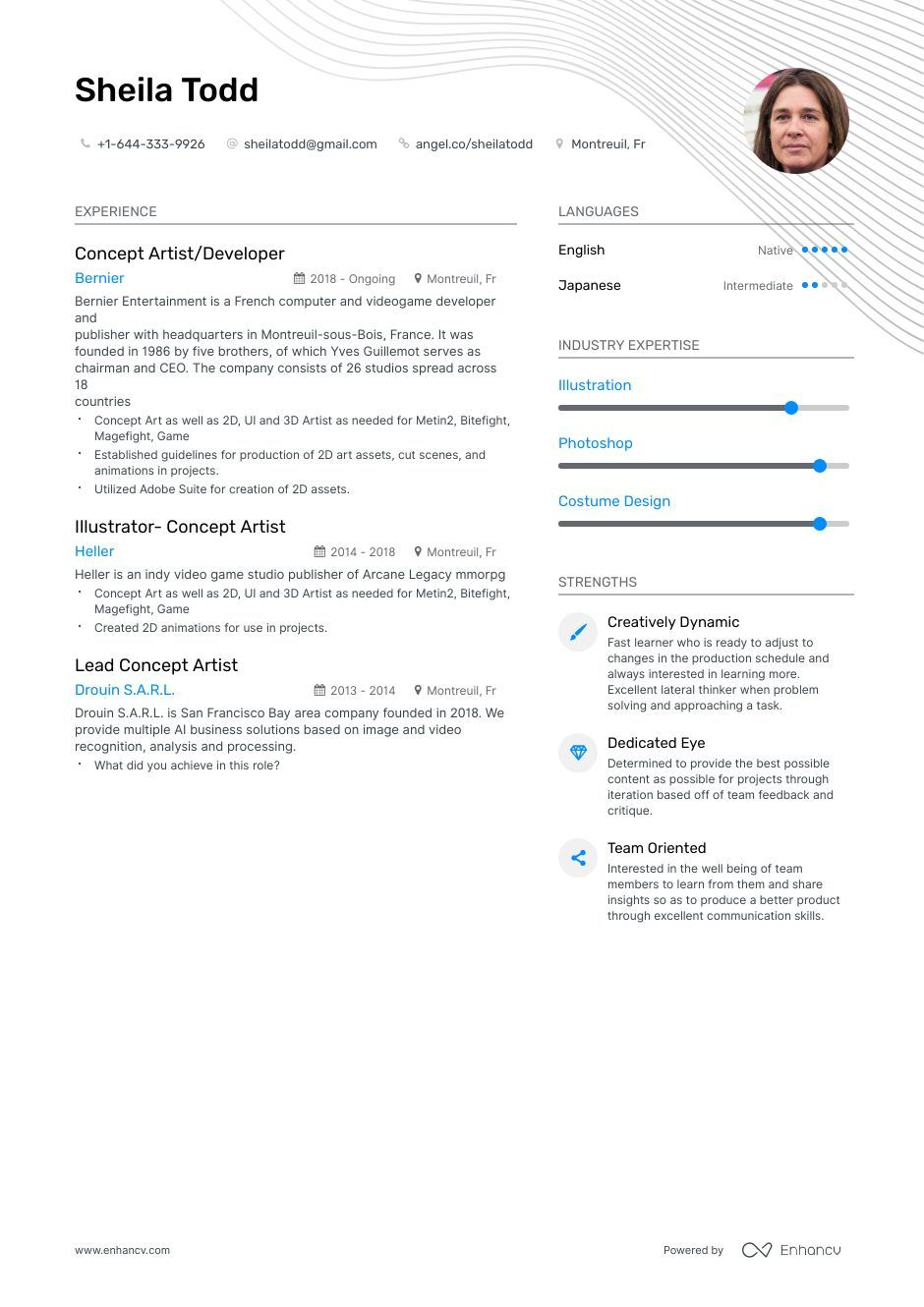 Concept Art Resume Example And Guide For 2019 Resume Examples Resume Template Artist Resume