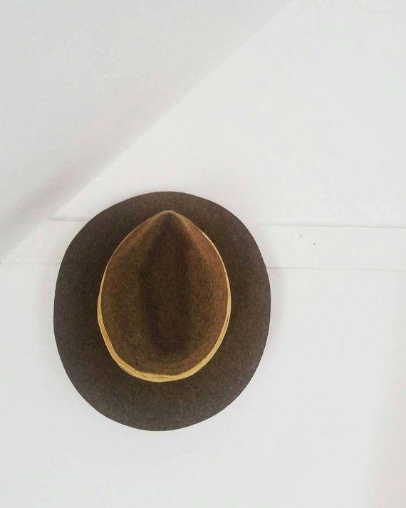 Vintage L.L. Bean Wool hat. Vintage Wool fedora. Brown wool explorers hat.  Made in England. Rare Vin 718b0a51ee1f