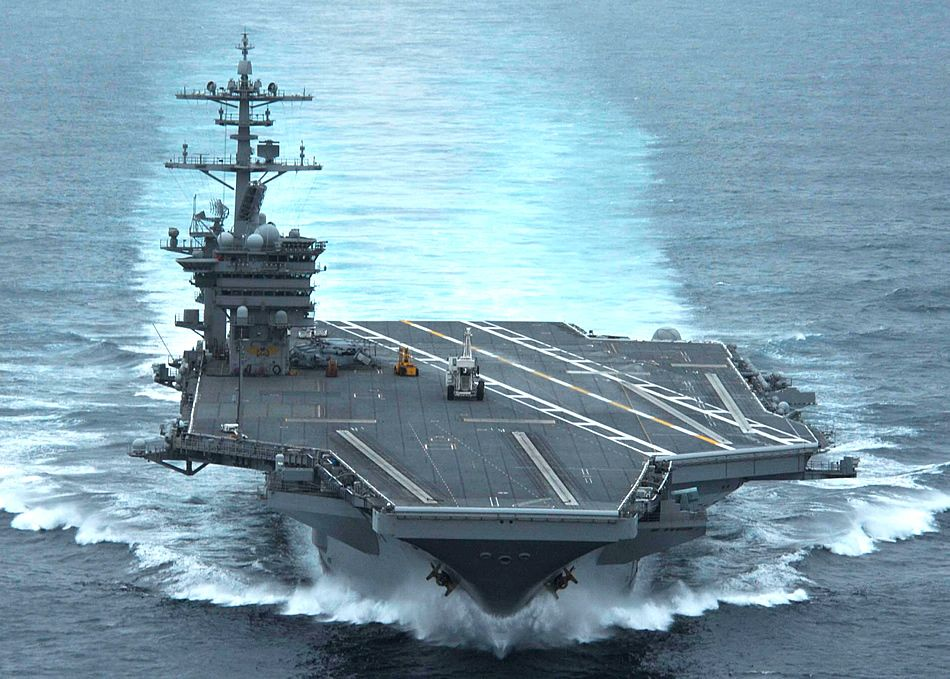 Photo Charging Teddy Aircraft Carrier Uss Theodore Roosevelt Naval