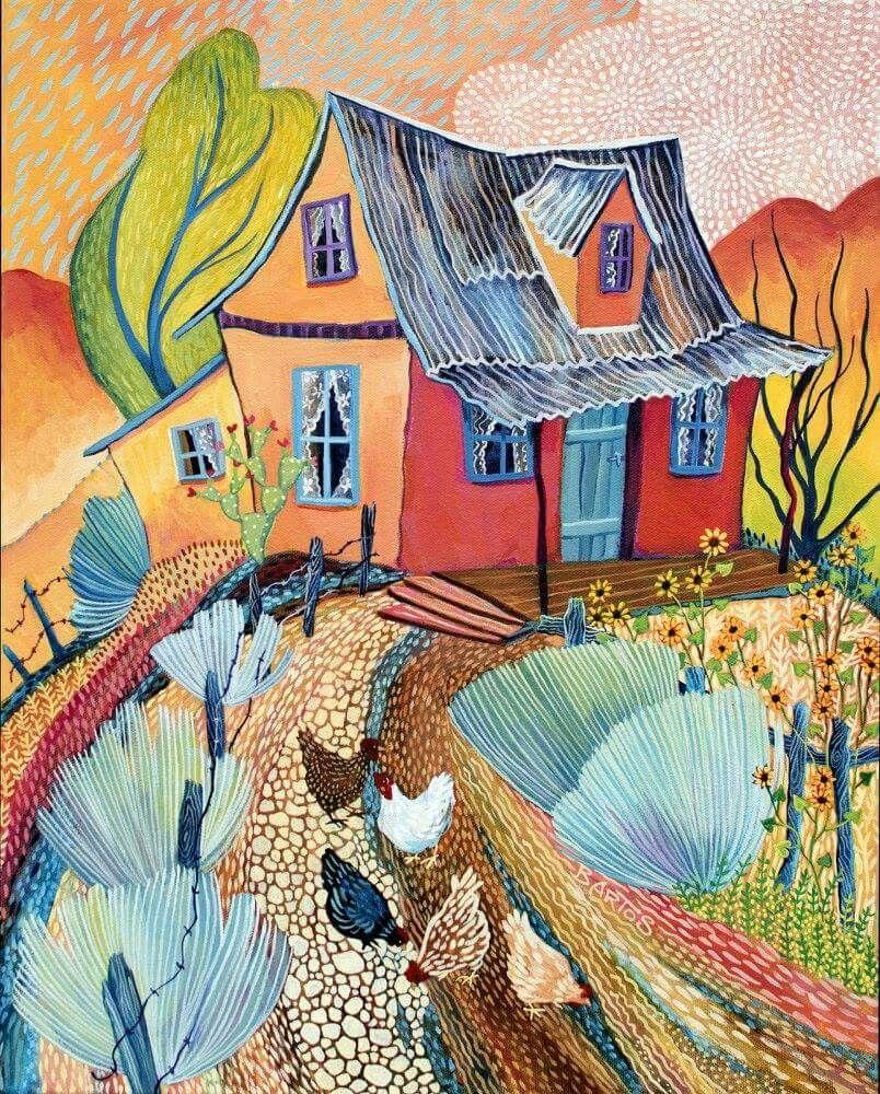 Sally Bartos | Five Chickens | Art Landscape | Pinterest