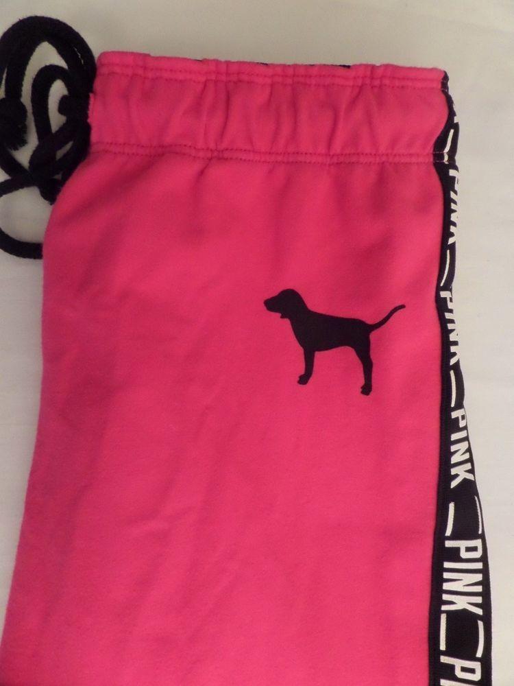 0e62a3b92b965 Victoria Secret PINK Classic Pants PINK/BLACK Stretch Sx XS VGC NICE!  #VictoriasSecret #ClassicStretchFit
