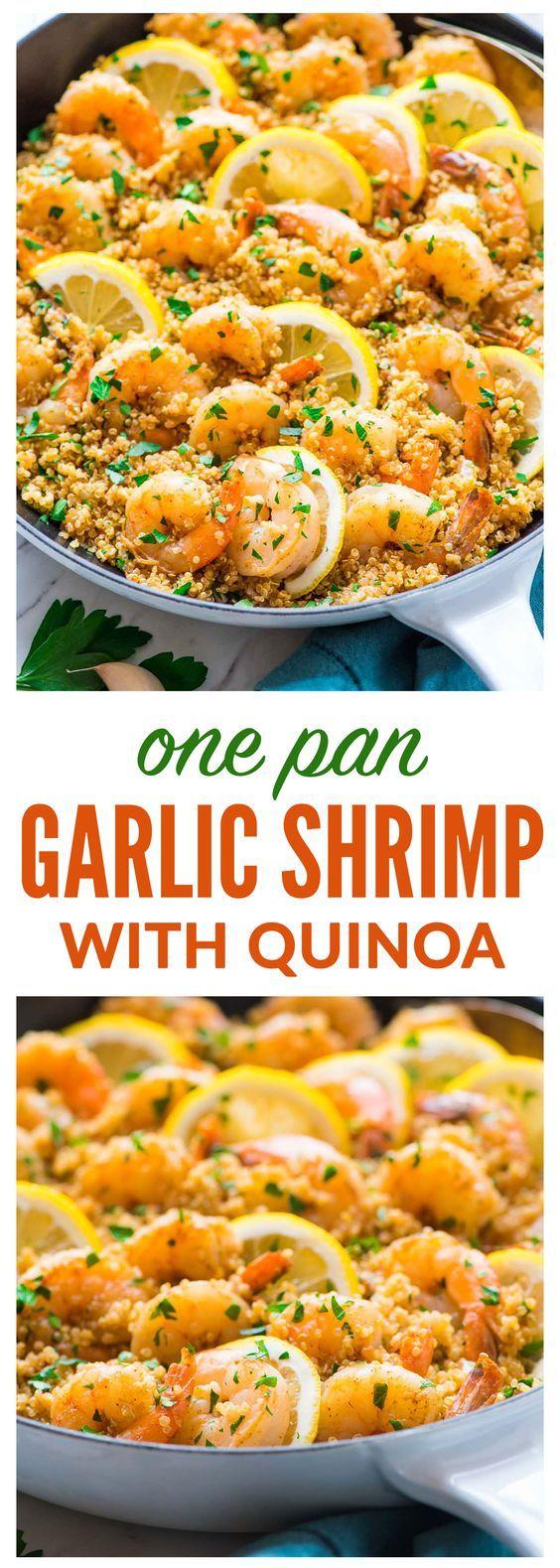 Photo of Garlic Shrimp with Quinoa