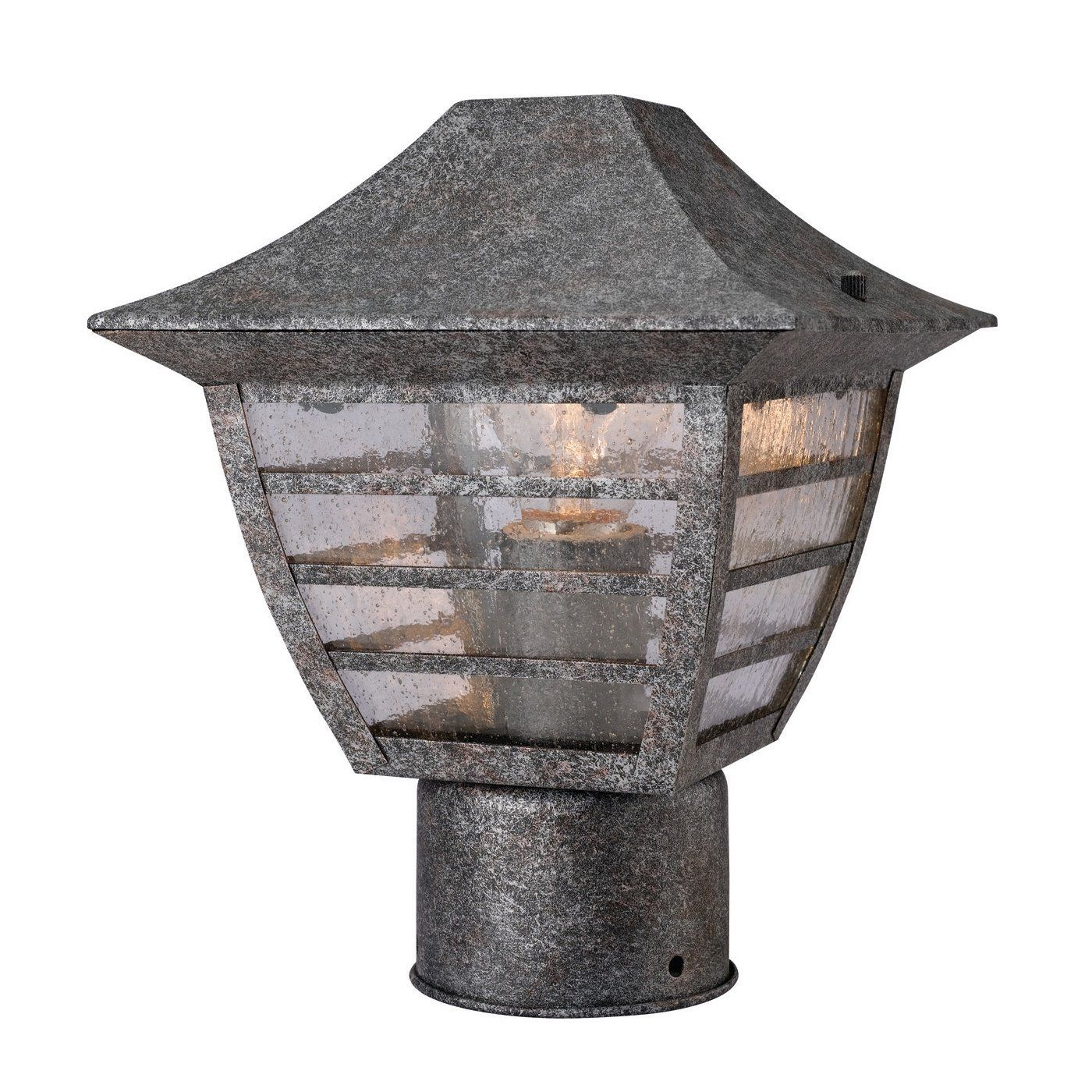 Galaxy Lighting 11 5 In H Antique Silver Outdoor Wall Light At