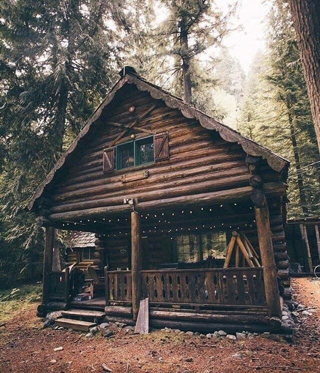 Pin By Andrea On Dinky Dens Rustic Cabin Cabin Homes Log Cabin