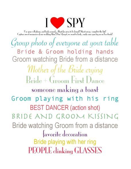 I spy photo wedding game diy printables only 200 www i spy photo wedding game diy printables only 200 customweddingprintables maxwellsz