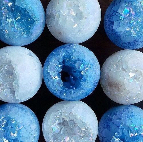 aesthetic, blue, crystals, deep blue, pastel, tumblr