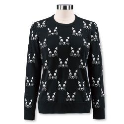 2f0a2e790 Kitty-Face Jacquard Sweater | Cats Cats Cats | Sweater shop ...