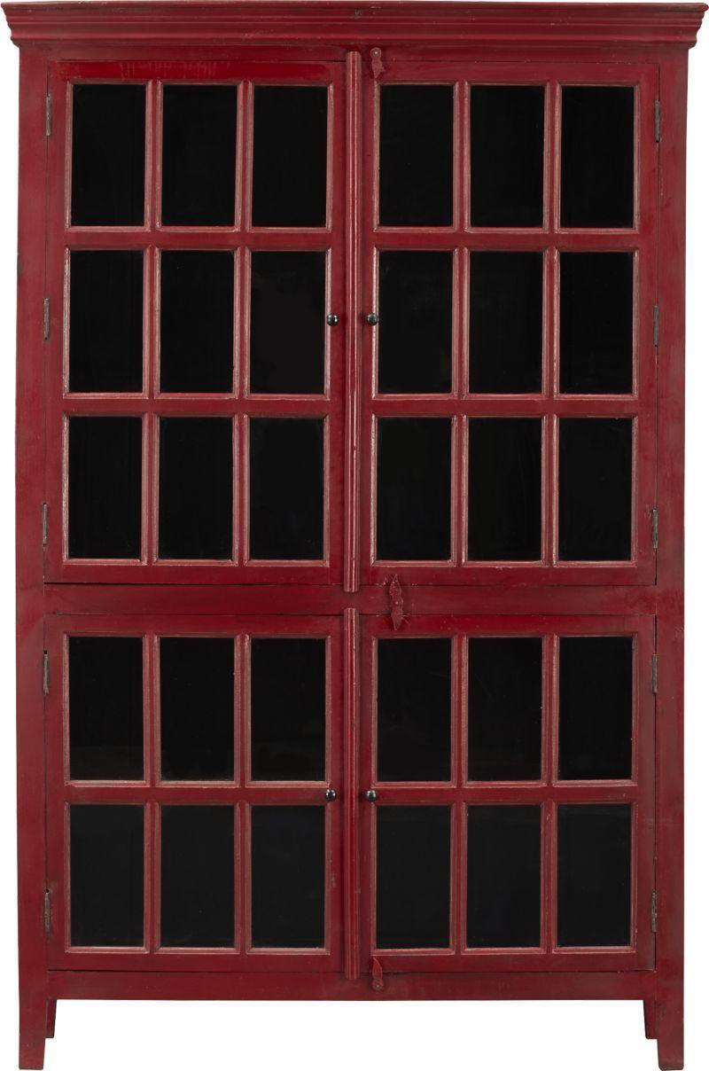 Rojo red tall cabinet crate and barrel mezzanine ideas