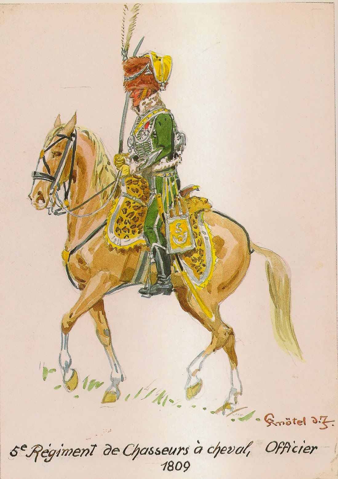 French; 5th Chasseurs a Cheval, Officer Grande Tenue 1809
