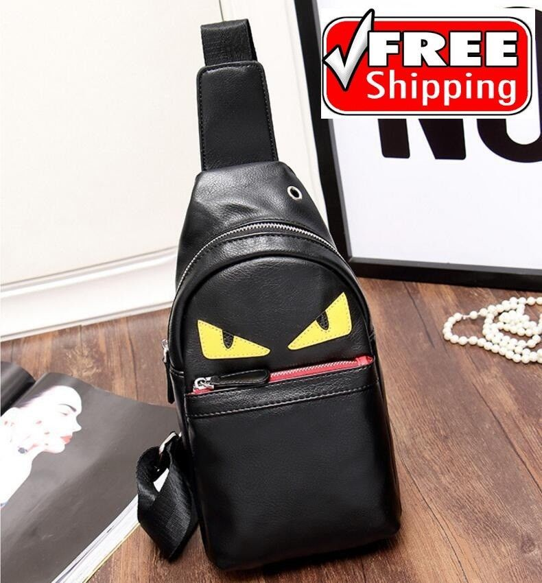 a8637aa82b Fendi Roma supreme monster eyes Chest Shoulder Bag Leather Casual backpack   fashion  clothing  shoes  accessories  mensaccessories  bags (ebay link)