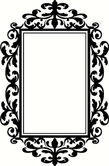vinyl wall decal silhouette Photo frame by WallDecalsAndQuotes ...