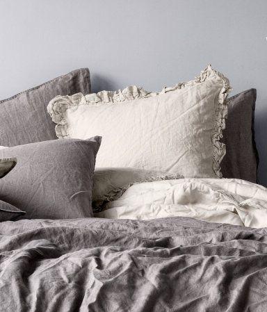 leinen bettw sche h m de comfort zone ideas pinterest. Black Bedroom Furniture Sets. Home Design Ideas