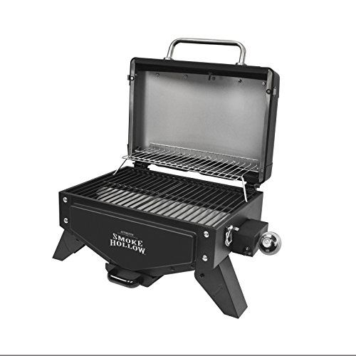 Portable Stainless Steel 2 Burner Tabletop Gas Grill With Built In