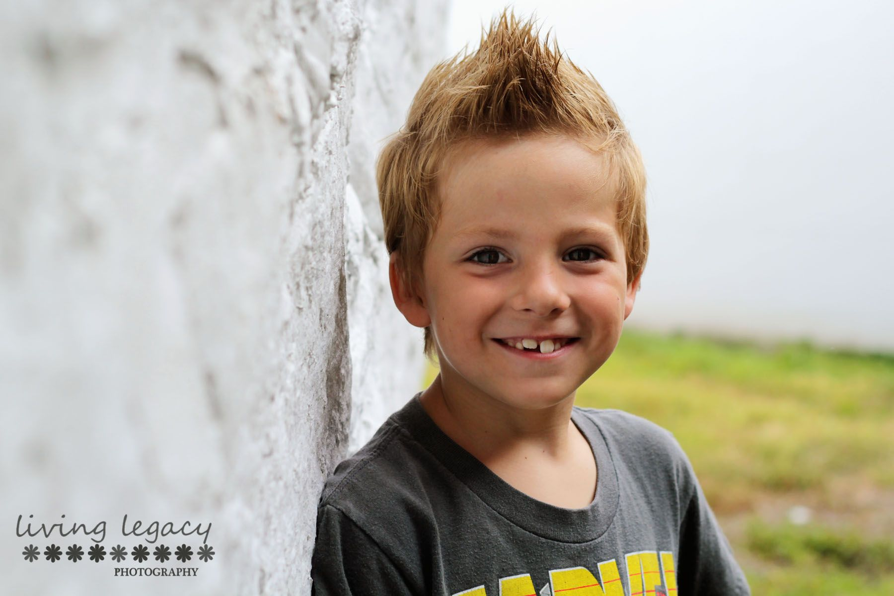Living Legacy Photography 6 year old boy session outdoor natural light portraits