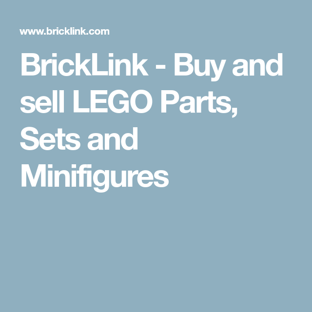 BrickLink - Buy and sell LEGO Parts, Sets and Minifigures | Maker ...